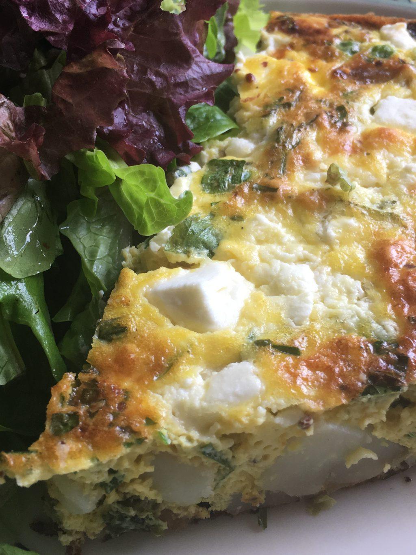 Pea, Feta & Herb Frittata - Gee Cartwright Cookery