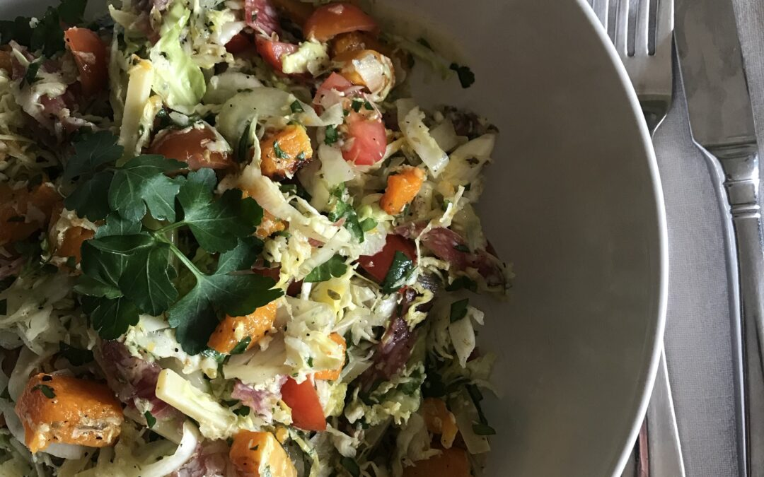 Chinese Cabbage, Fennel and Butternut Squash Salad