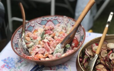 Tomato Salad with Horseradish Cream