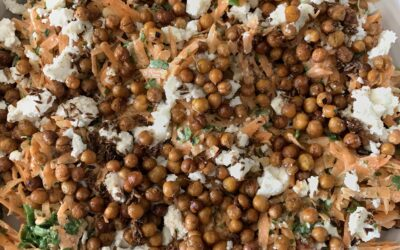 CARROT & TOASTED SPICED CHICKPEA SALAD WITH TAHINI DRESSING