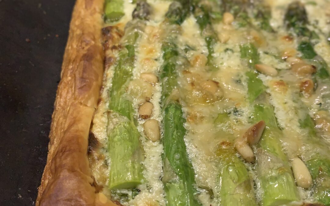 ASPARAGUS, MASCARPONE AND BASIL TART