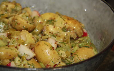 CARAMELISED FENNEL AND NEW POTATO SALAD