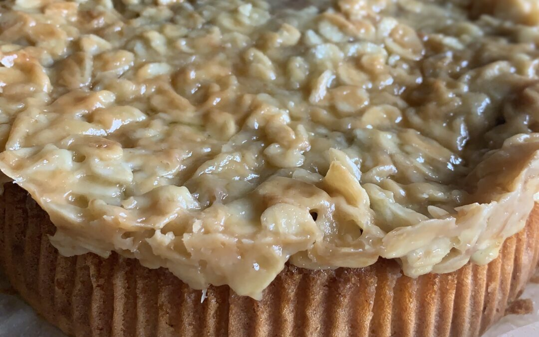 RHUBARB TOSCA CAKE
